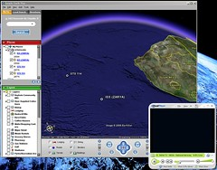 Realtime Tracking of Space Shuttle on Google Earth