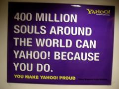 You Yahoo because we do