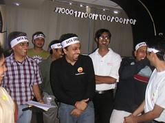 Venkat wearing the Data Drome band