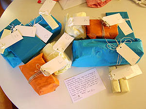 both sets of packages before the unwrapping carnage