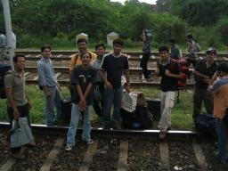 Train stopped outside Delhi