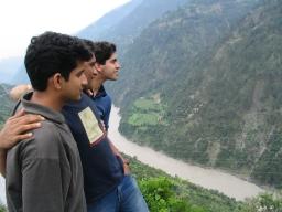 Dejo, me and Mehra facing Jhelam