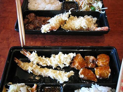 Japanese - Salmon & Tempura Bento