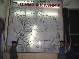 Dejo, Mehra and me with J&K tourist map