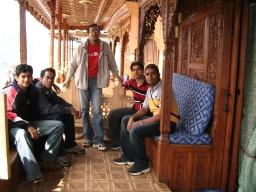 Dejo, Srick, Pani, Mehra and myself outside boathouse