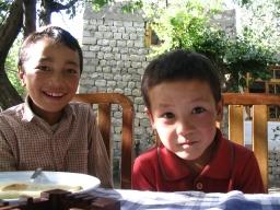 Some tibetin boys in Khaltsi