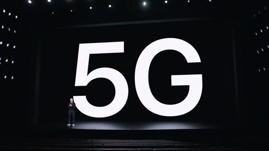 The iPhone 12 works with 5G