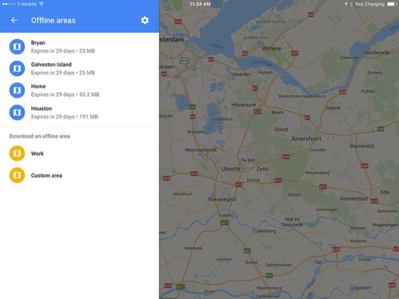 How to use offline mode in Google Maps with your iPhone or iPad     updated every 30 days  though Google Maps will try to update them  automatically when there s less than 15 days left and a device is connected  to Wi Fi