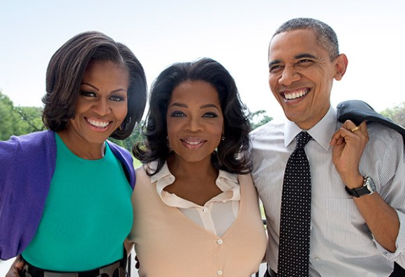 Oprah with Barack and Michelle Obama