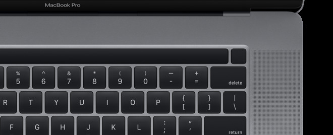 Touch Bar with discrete Touch ID sensor - Image 9to5 Mac
