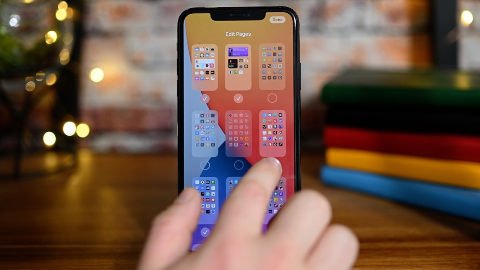 Hiding Home screen pages in iOS 14