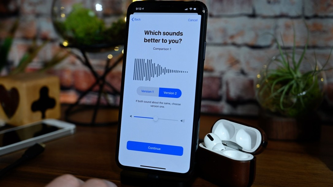 Apple's headphones hearing test