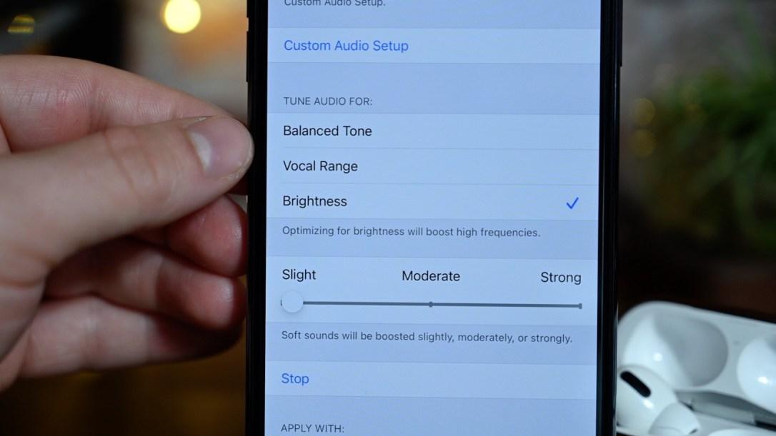 Change the headphones accomodations settings yourself