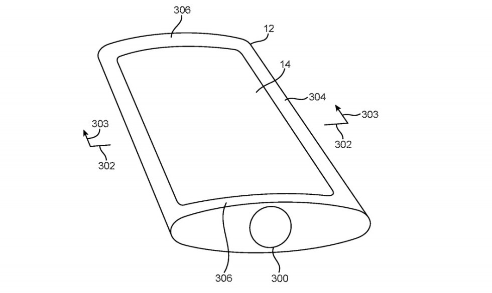 An iPhone with a round body could seem thinner at the edges.
