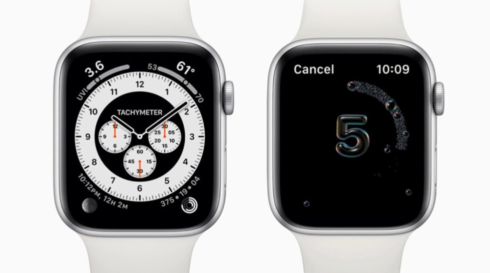 The tachymeter complication and the hand washing features of watchOS 7