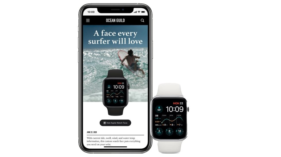 Apple Watch face sharing in watchOS 7