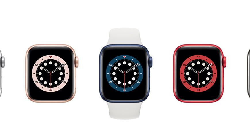 Apple Watch Series 6 shown in the Apple Watch Studio