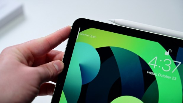 Relax to open iPad Air with Touch ID