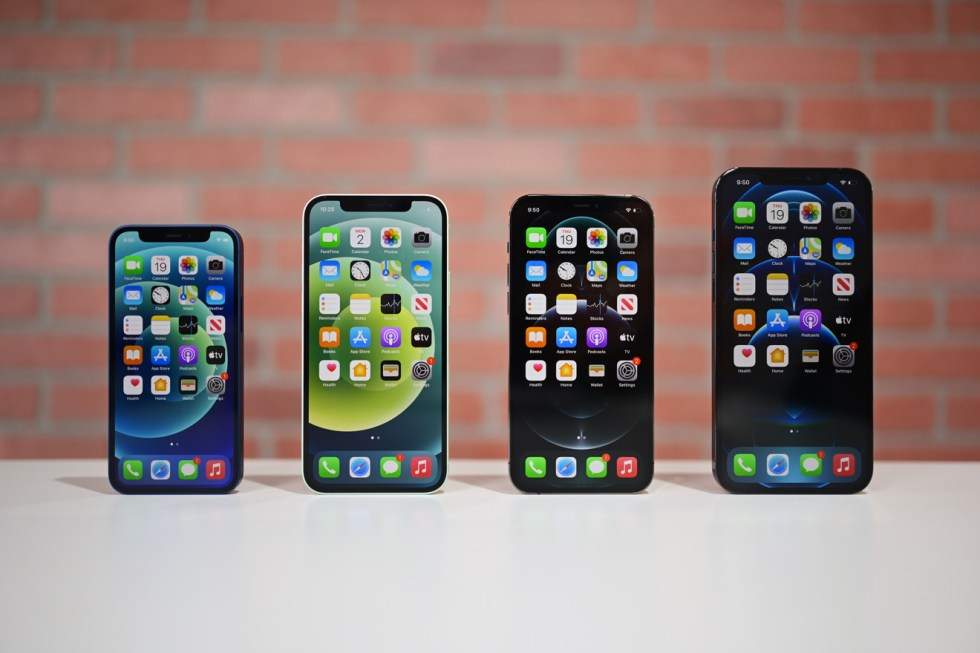 iPhone 12 lineup sizes