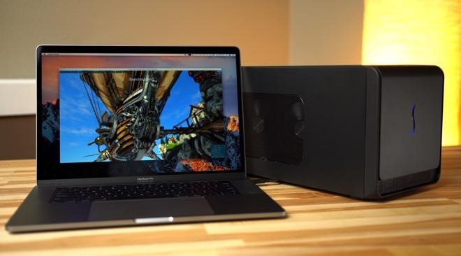 A MacBook Pro with an eGPU.