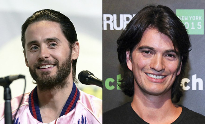 Jared Leto (L) will reportedly play former CEO Adam Neumann