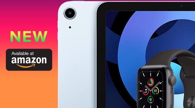 Apple Watch and iPad Air 4 at Amazon
