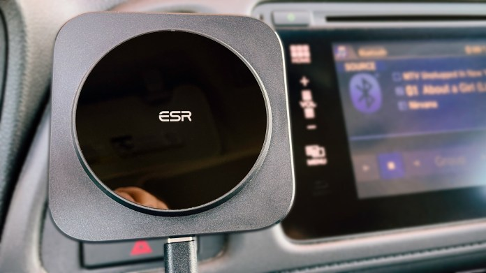 ESR HaloLock is an unofficial MagSafe car charger