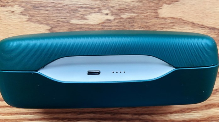 The case can be recharged via USB-C cable