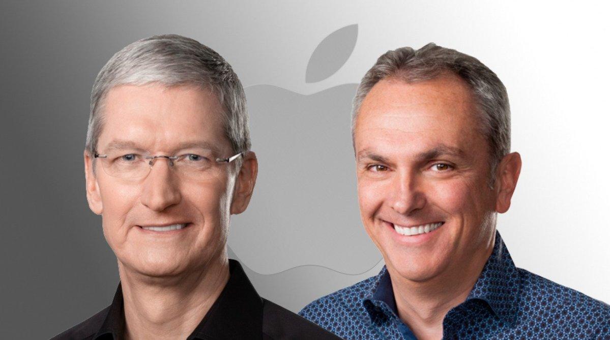 Apple CEO Tim Cook (left) with CFO Luca Maestri