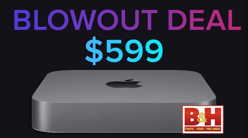 Intel Mac mini with blowout deal $599 text
