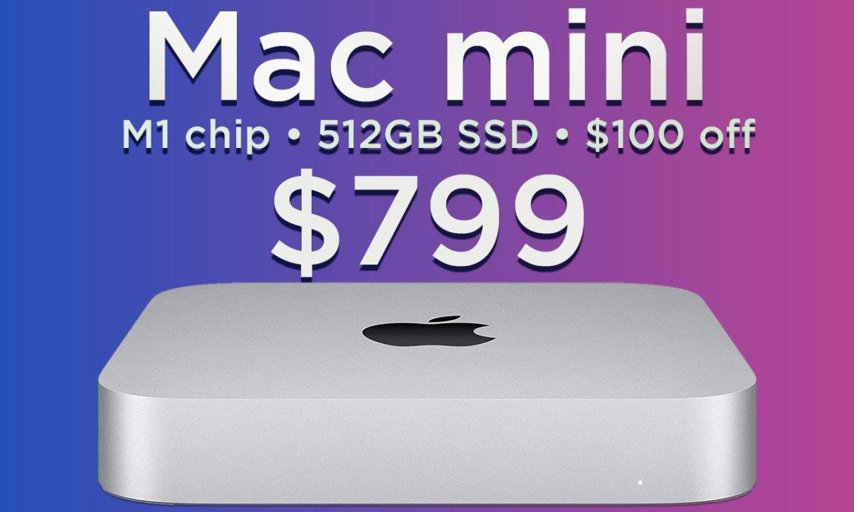 Apple M1 Mac mini with 512GB $100 off text