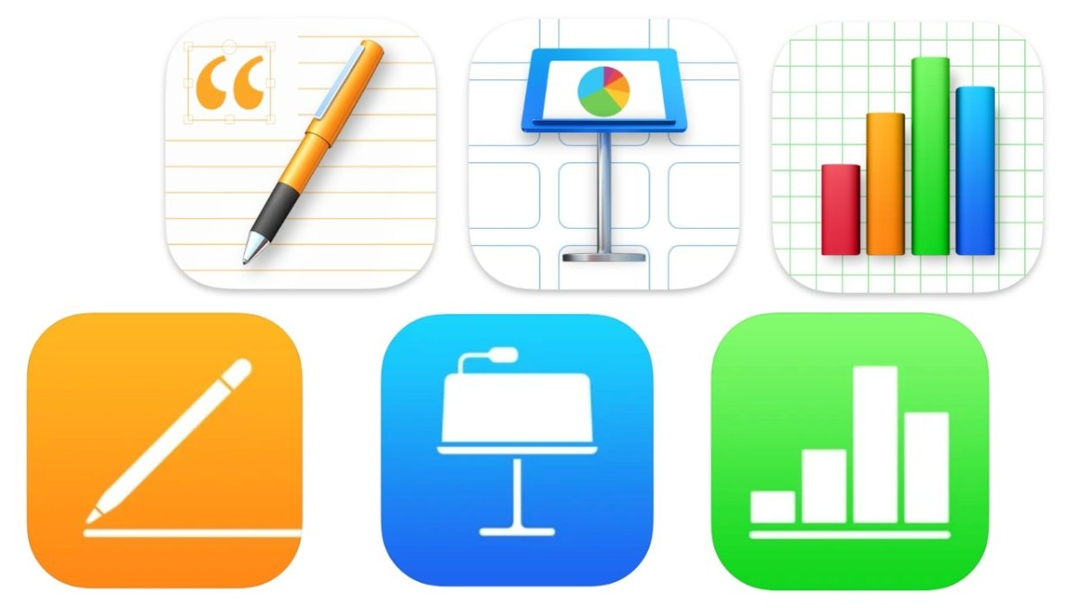 Apple's three iWork apps have been updated on both iOS and macOS
