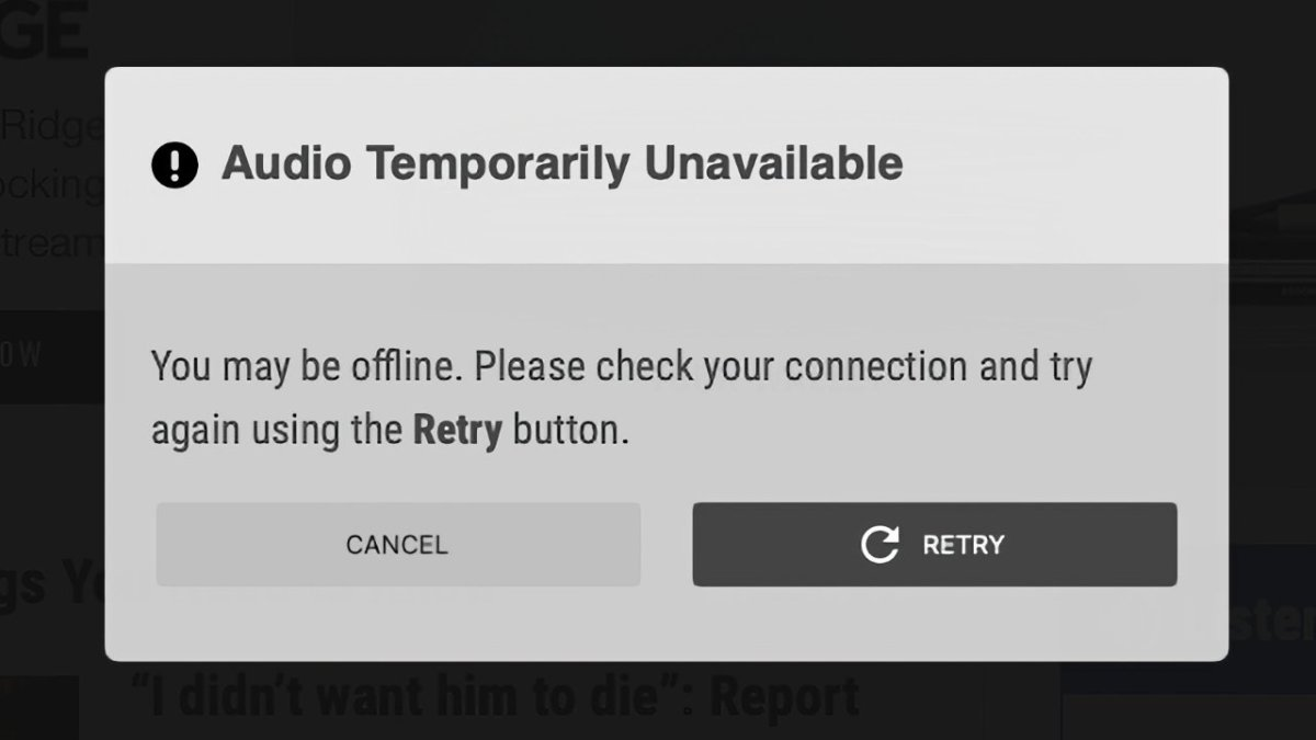 At least many Cox radio stations are still unable to stream audio live