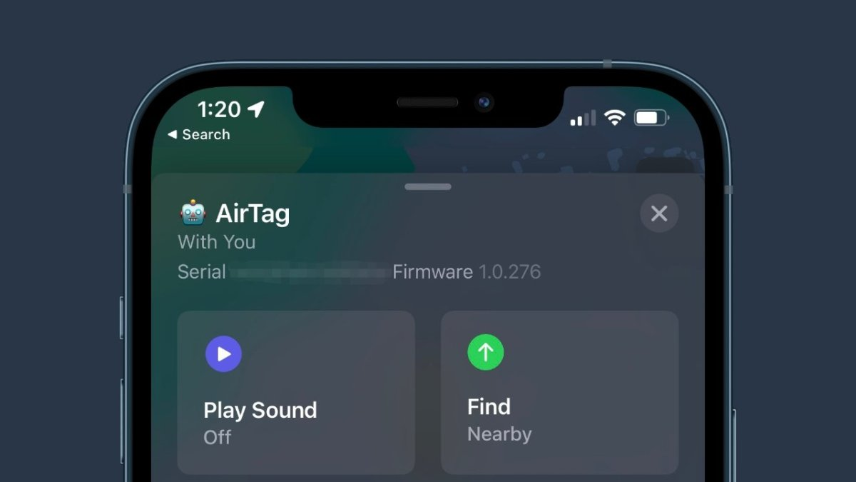 Apple releases AirTag firmware version update