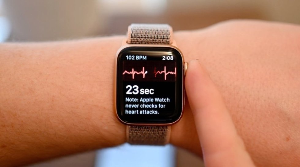 The Apple Watch Series 4 introduced a built-in ECG.