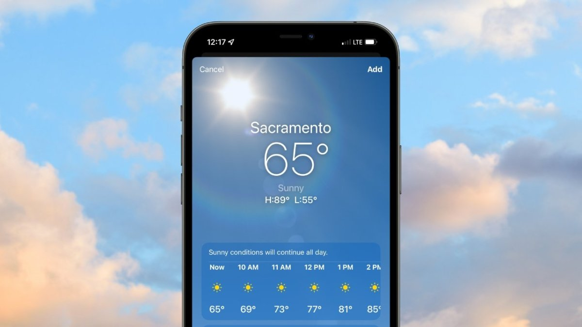 Apple's Weather app could be avoiding a socially significant number