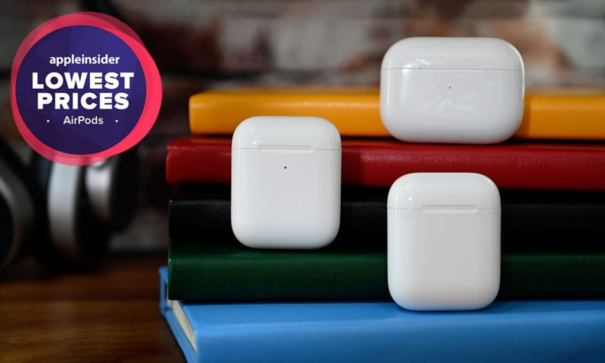 Apple AirPods lineup with lowest prices badge