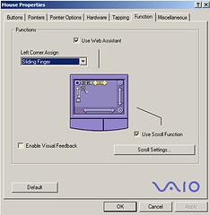 settings dialog