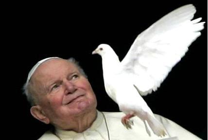 Papa y Paloma de la paz