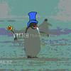 Penguin in motion