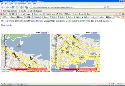 Google Maps Standalone Mode
