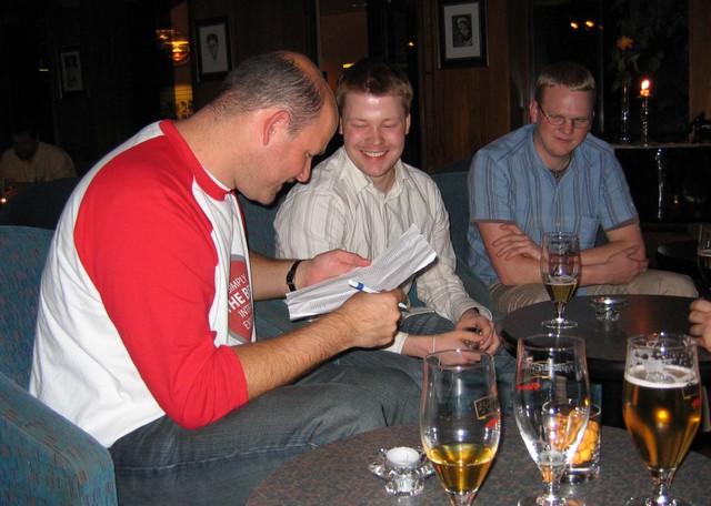 Rijk, Haavard, and John from Opera Software.
