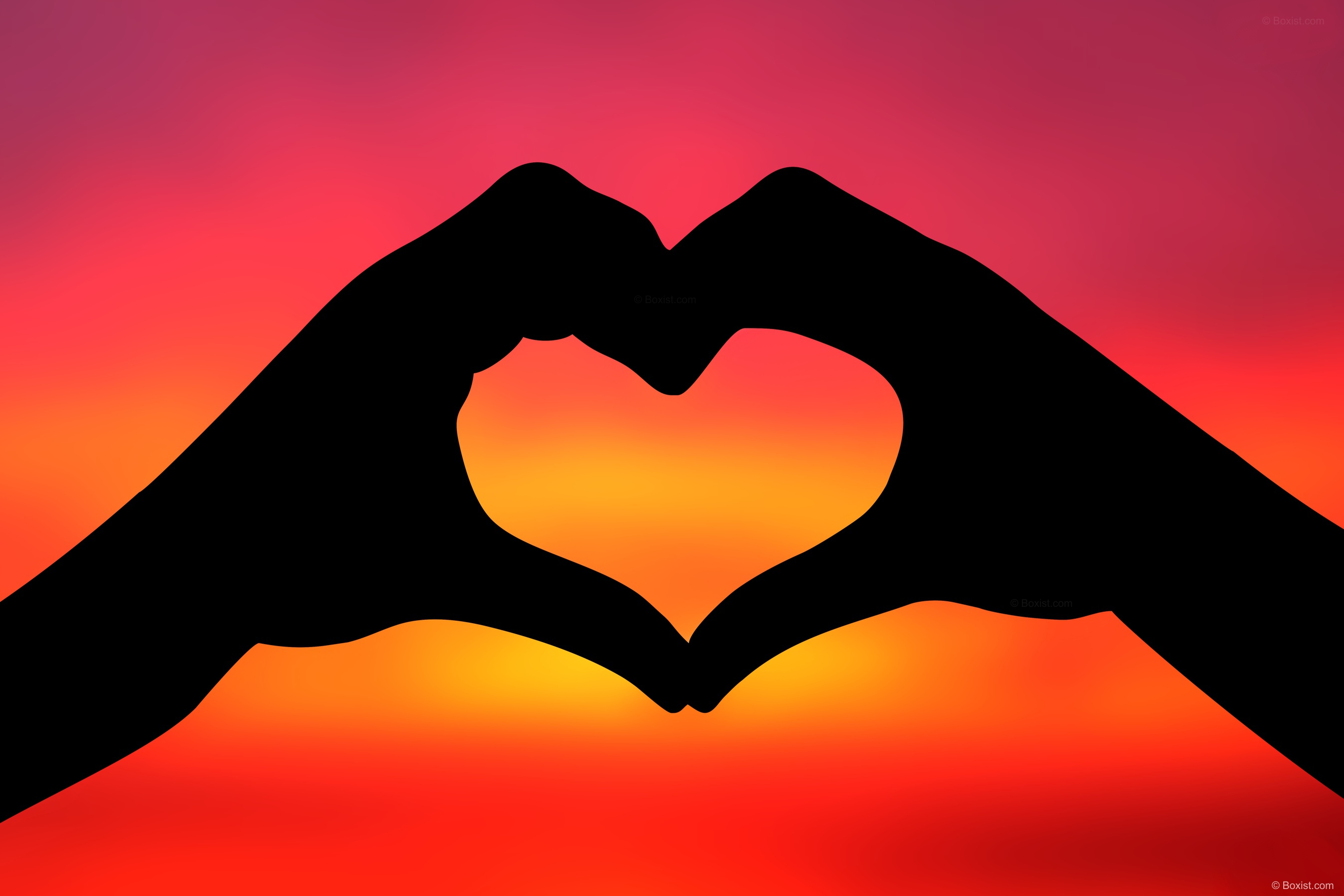 Silhouette Of Love Heart Shape With Two Hands At Sunset Stock Photo Our Photography Portfolio