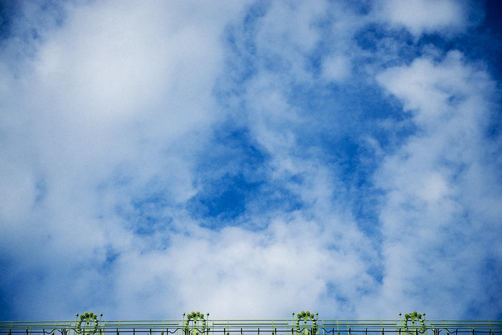 palmenhaus, vienna, austria, sky, summer, blue