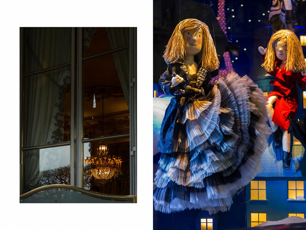 Paris, windows, vintage, Printemps, christmas