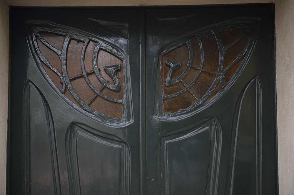 paris, france, doors, art nouveau