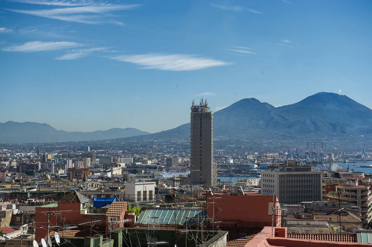 napoli, rooftops, from above, quartieri spagnoli, spanish quater, italy, blue sky