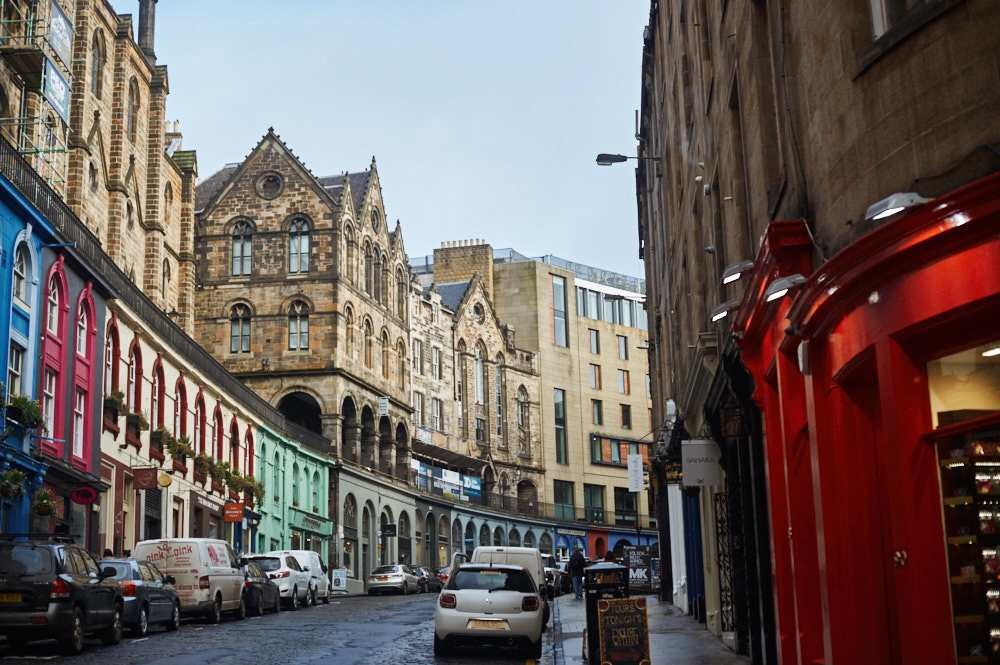 edinburgh, victoria street, scotland, uk