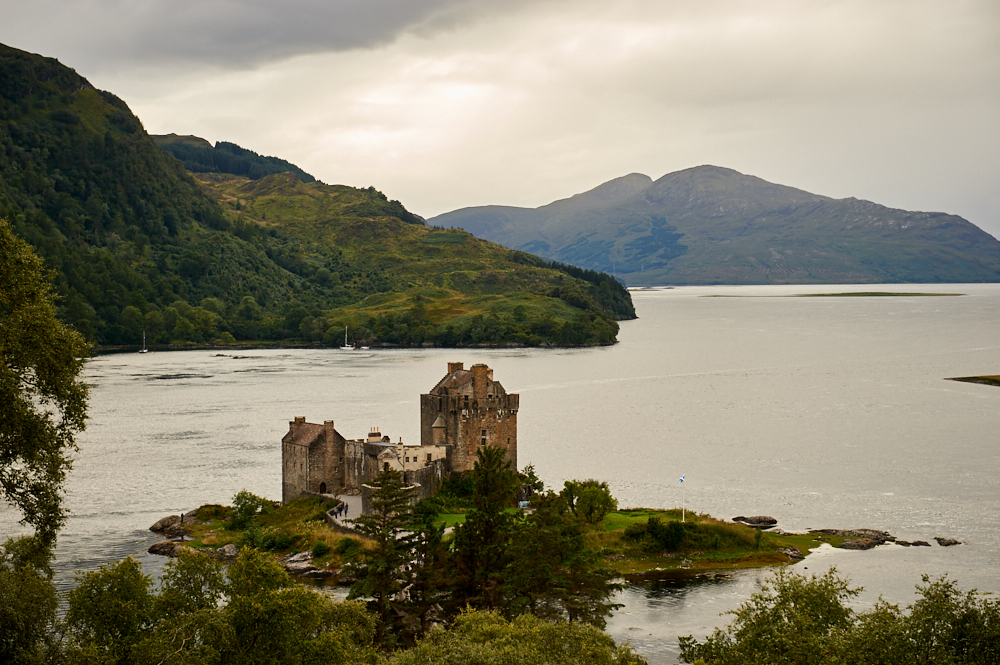 eilean donan castle, scotland, highlands, movie, travel, uk, clouds, castle,