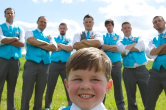 Groomsmen with Ring Bearer